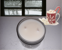Snow Days- Hot chocolate scented candle - 6 and 2 oz tins - Intuitive Clarity Candle Boutique