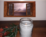 Stormy Weather - Patchouli Scented Hand-Poured Soy 4 oz Jar Candle - Intuitive Clarity Candle Boutique