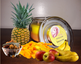 Summer/Fall Pineapple and Pear Scented 8 oz Jar Soy Candle - Intuitive Clarity Candle Boutique