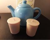 Decorative Teapot Candle Decor - Tea Leaves - Tea Scented Soy Candle and Soy/Beeswax Votives - Intuitive Clarity Candle Boutique