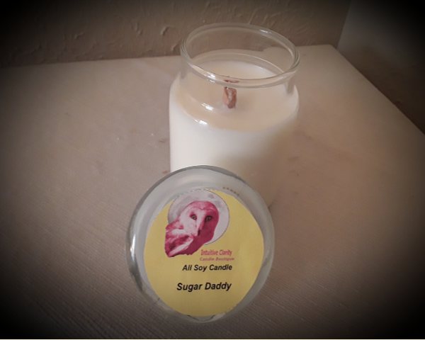 4 oz Jar/Tealights-  Sugar Daddy - Baked Apple Scented Hand-Poured Soy Candle - Intuitive Clarity Candle Boutique