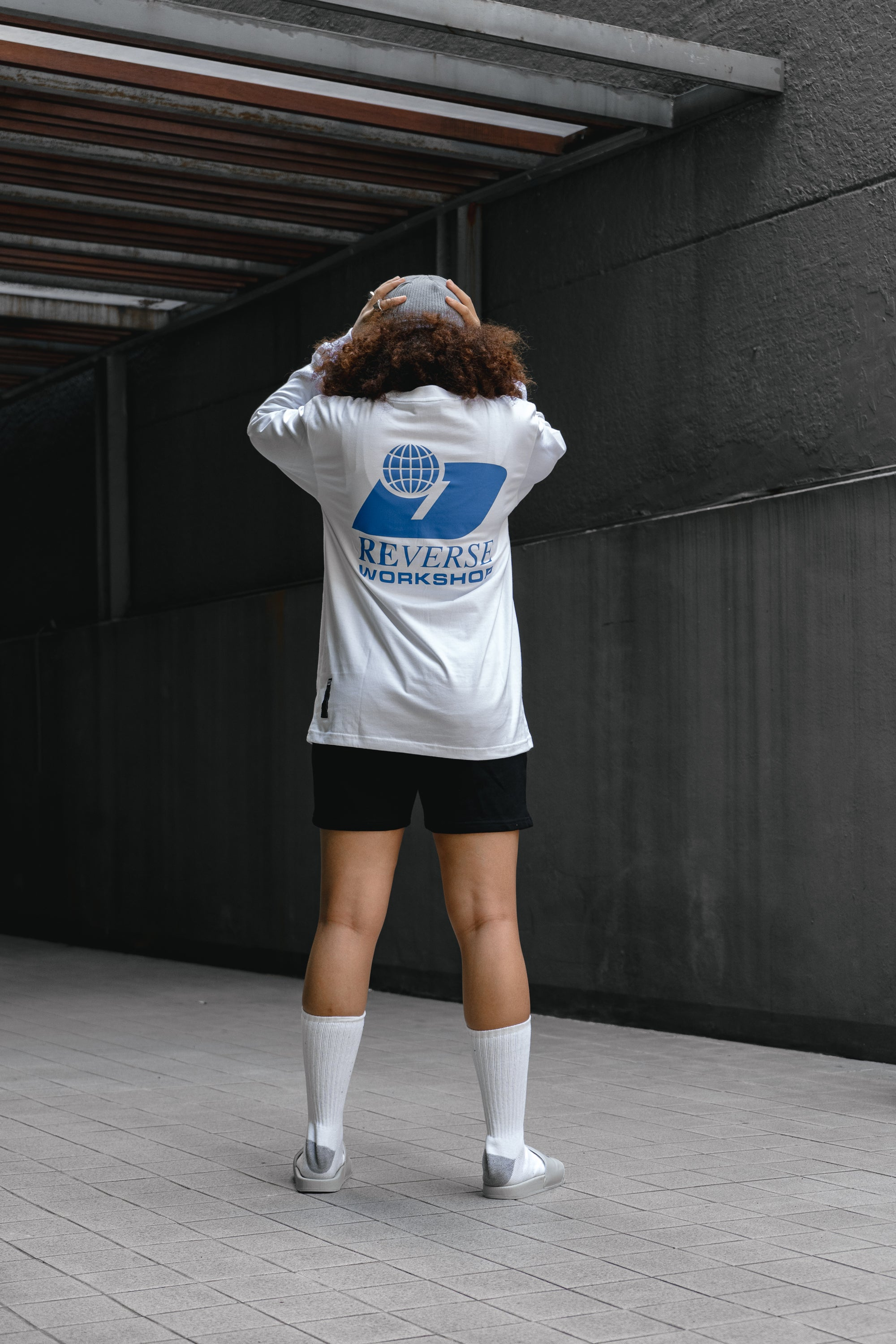 D CORP. POCKET LONG SLEEVE WHITE
