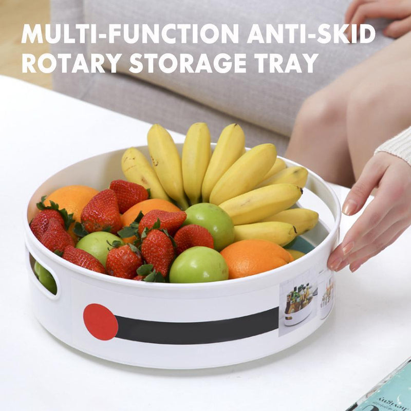 Multi-Function Anti-Skid Rotary Storage Tray