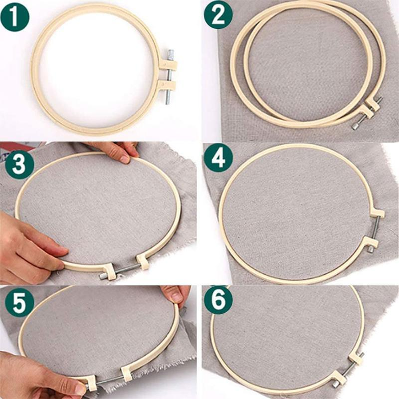 Bamboo Frame Embroidery Hoop Ring