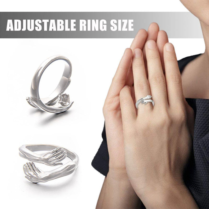 2021 New-Couple Hug Ring