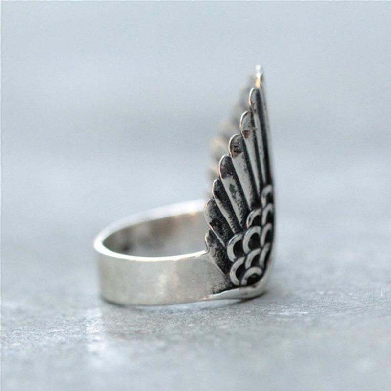 Angel Wing Silver Ring