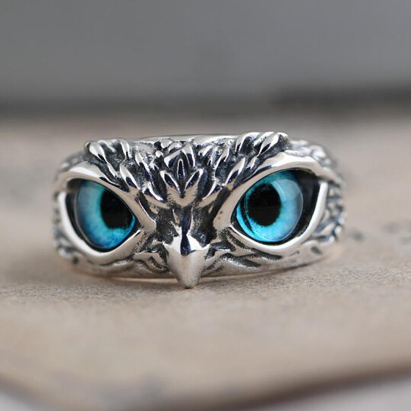 Demon Eye Owl Ring Adjustable