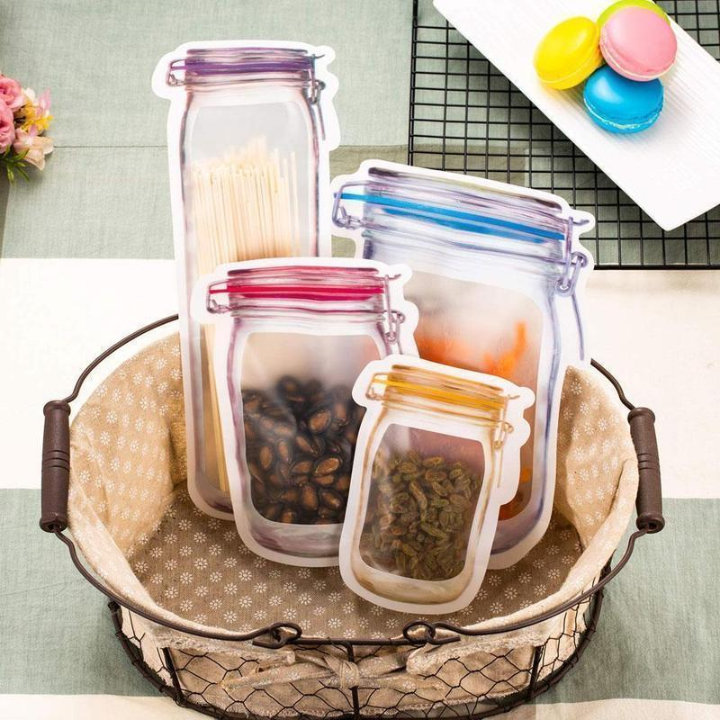 Jar Zipper Bags
