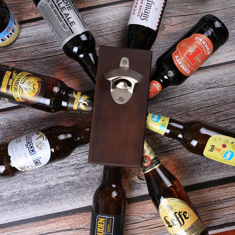 Bottle Opener and Magnetic Bottle Cap Catch