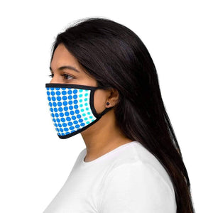 Blue Dark Blue Polka - Mixed-Fabric Face Mask - Solitary Isle