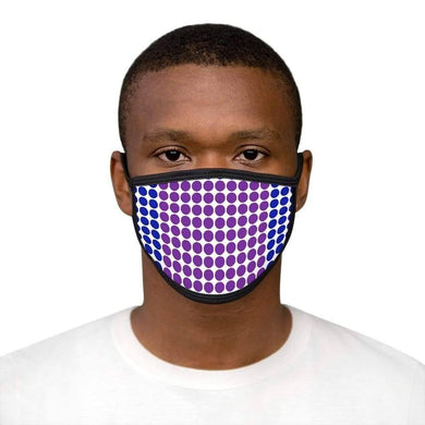 Blue Purple Polka - Mixed-Fabric Face Mask - Solitary Isle