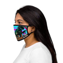 Load image into Gallery viewer, Standing On Her Head - Mixed-Fabric Face Mask - Solitary Isle