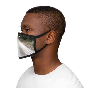 The Day You Started Praying and God Took You From Me - Mixed-Fabric Face Mask - Solitary Isle