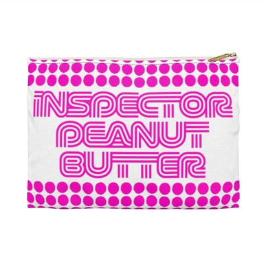 Bags Small / White Inspector Peanut Butter In Surprise Pink - Accessory Bag