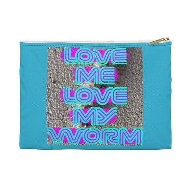 Bags Small / White LOVE ME LOVE MY WORM - Accessory Pouch