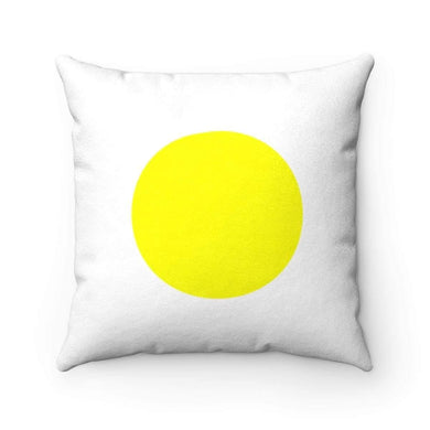 Bliss Basic Yellow Faux Suede Square Pillow Case - Solitary Isle