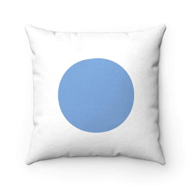 Bliss Basic Blue Faux Suede Square Pillow Case - Solitary Isle