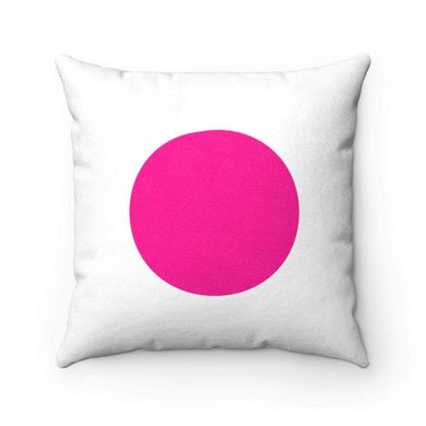 Bliss Basic Bright Pink Faux Suede Square Pillow Case - Solitary Isle