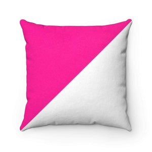 "Home Decor 20"" x 20"" Bliss Basic Bright Pink Faux Suede Square Pillow Case - HRec"