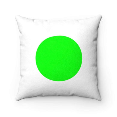 Bliss Basic Green Faux Suede Square Pillow Case - Solitary Isle