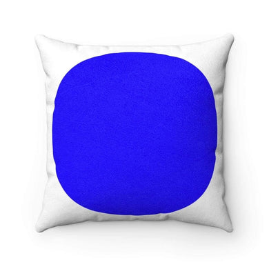 Bliss Basic SBlue Limited Edition Faux Suede Square Pillow Case - Solitary Isle