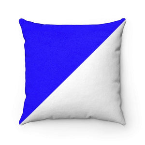 "Home Decor 20"" x 20"" Bliss Basic SBlue Limited Edition Faux Suede Square Pillow Case - HRec"
