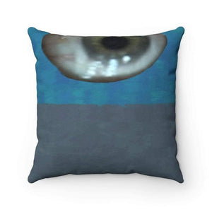 Home Decor Faux Suede Square Pillow Case - Matte Eye