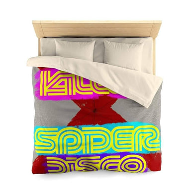 Home Decor Queen / Cream I Killed Spider Disco -  Duvet Cover