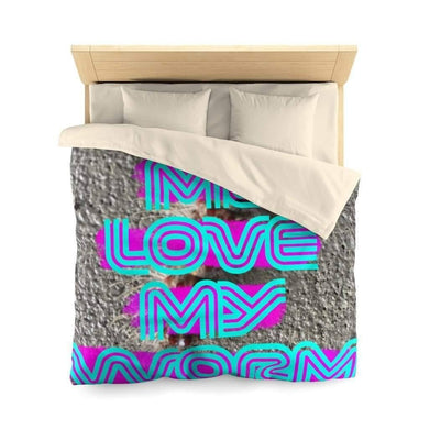 Home Decor Queen / Cream Love Me Love My Worm (for the devout) -  Duvet Cover - No Twin