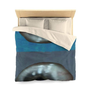 Home Decor Queen / Cream Matte Eye Microfiber Duvet Cover