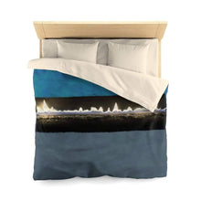 Load image into Gallery viewer, Home Decor Queen / Cream Matte Fire Microfiber Duvet Cover