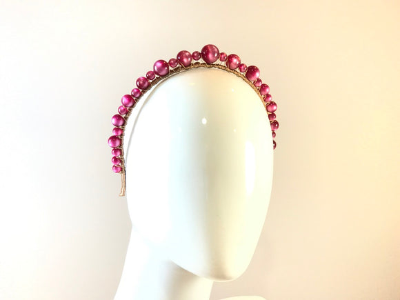 Vintage Moonglow Headband- Plum