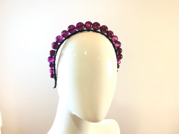 Vintage Moonglow Headband- Grape