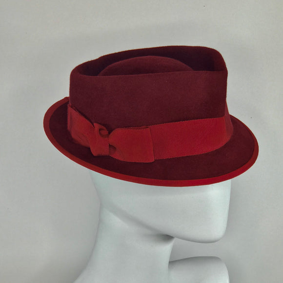 Red Heart-shaped Trilby