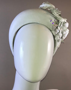 Leather Bridal Crown with leather succulents