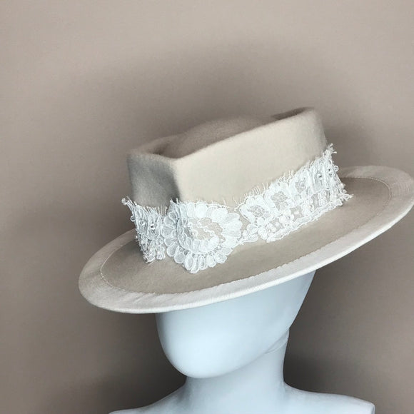 Bridal Lace Fedora
