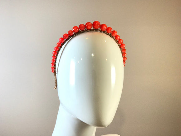 Vintage Moonglow Headband- Orange