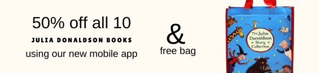 50% off and a free bag using our mobile app