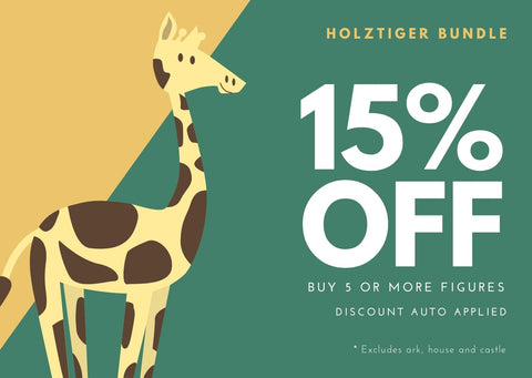 15% off Holztiger figures when you buy 5 or more
