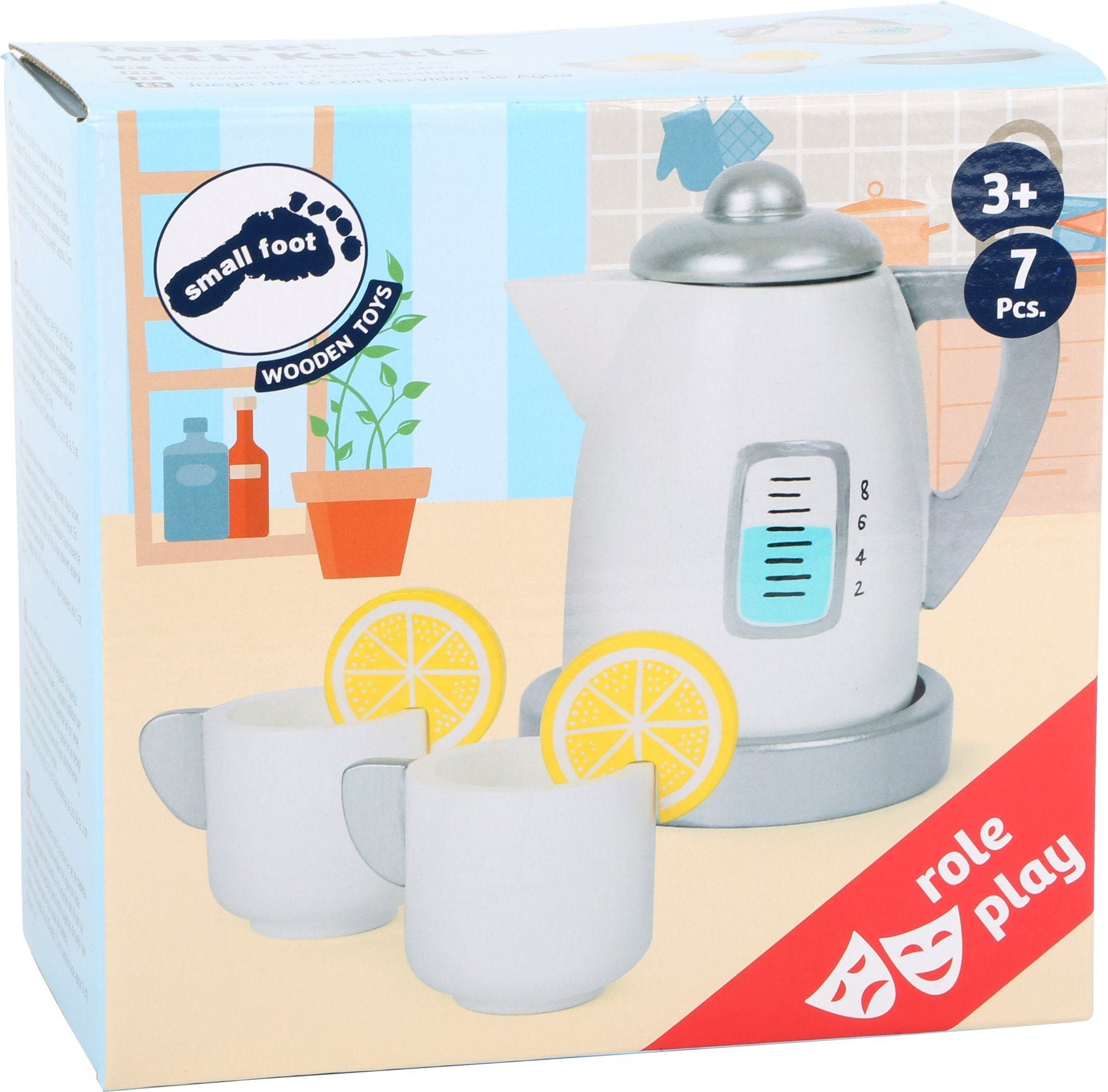 Tea Set with Kettle for Play Kitchens by Small Foot