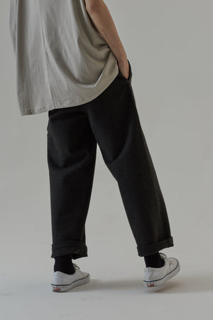 ELASTIC WOOL TROUSER - GREY