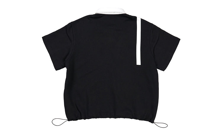 Striped Logo Polo Shirt - Black