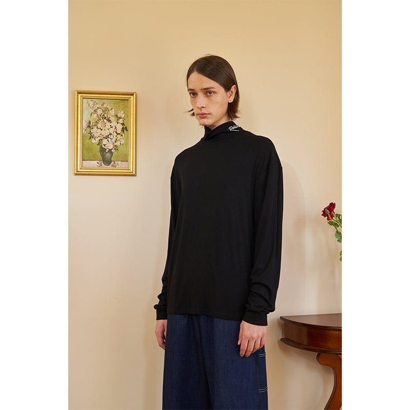Logo Turtleneck - Black
