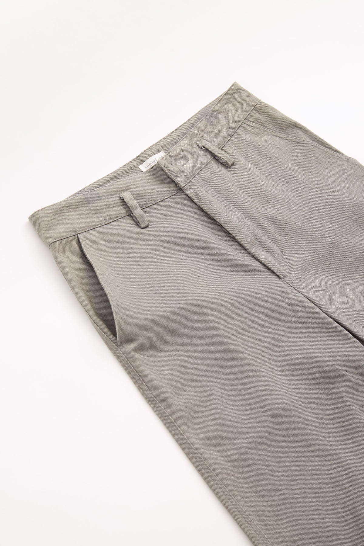 DENIM STRAIGHT PANT - GREY