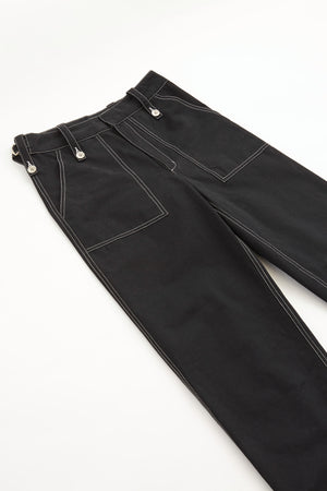 STITCHED PANTS - BLACK