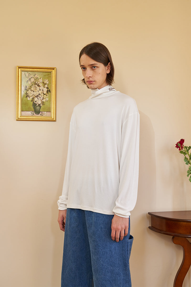 Logo Turtleneck - White