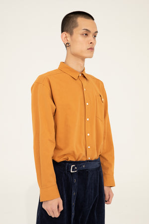 BUTTON SHIRT - ORANGE