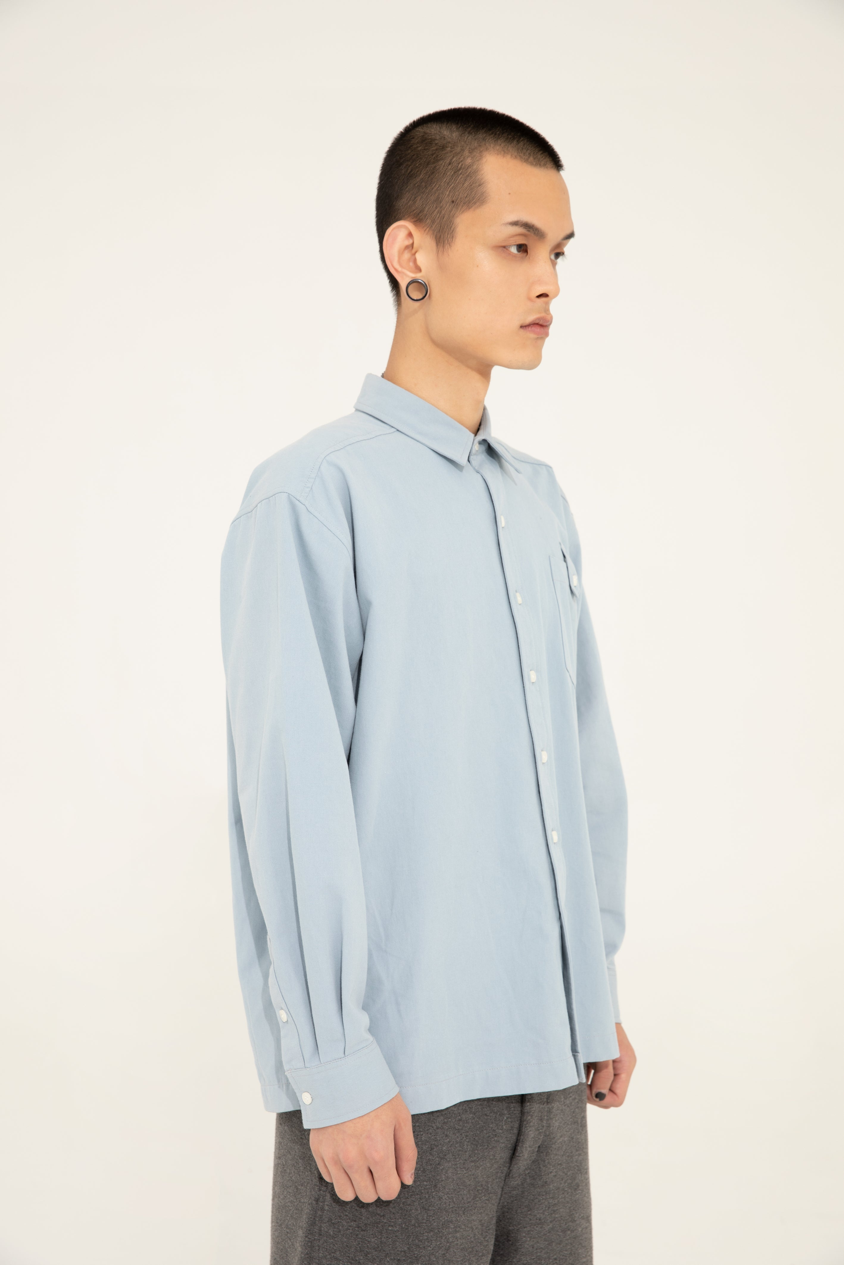 BUTTON SHIRT - BLUE