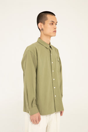 BUTTON SHIRT -  GREEN