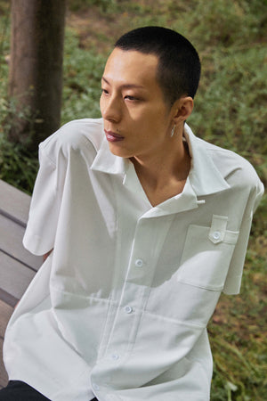 Botton Pocket Shirt - White